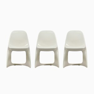 Vintage Plastic Casalino Chairs by Alexander Begge for Casala, Set of 3