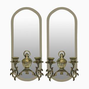 Französische Mid-Century Kerzenhalter, 2er Set