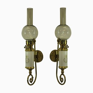 Mid-Century Napoleonic Revival Sconces, Set of 2