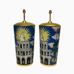 Vintage Tischlampen von Fornasetti, 2er Set