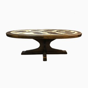 Ceramic Coffee Table by Clapuis, 1970s