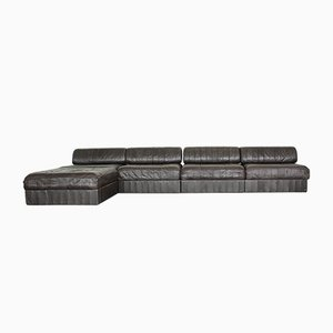 Patchwork Leather Modular DS-88 Sofa from de Sede, 1990s, Set of 5