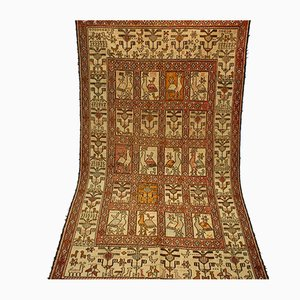 Handgeknüpfter orientalischer Kelim Teppich aus handgewebter Seide
