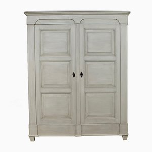 Large Antique Painted Wardrobe