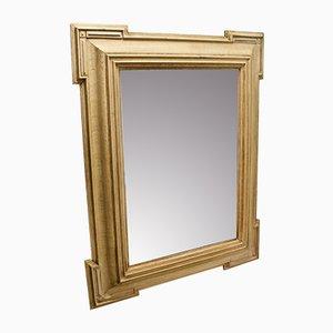 Antiker Spiegel aus gebleichtem Eichenholz