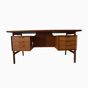 Danish Teak Desk from Poul Jeppesens Møbelfabrik, 1960s