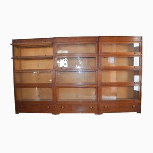Oak Bookcases from Union Zeiss Frankfurt, 1920s, Set of 3
