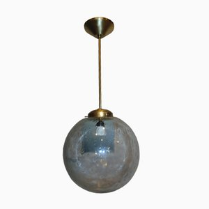 Vintage Art Deco Brass Ceiling Lamp