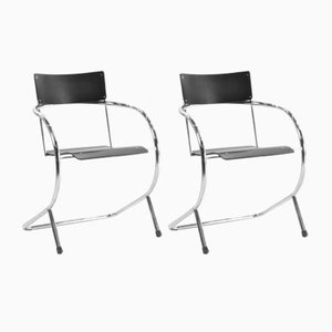 Dutch PS 32 Armchairs by Paul Schuitema for Gispen, 1980s, Set of 2