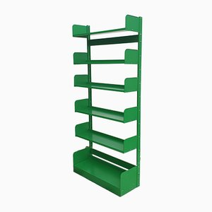 Mid-Century Green Congresso Metal Bookshelf from Lips Vago, Italy, 1968