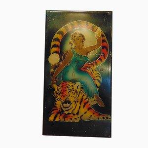 Panneau Zodiac Libra Vintage, 1950s