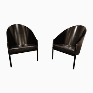 Vintage Pratfall Lounge Chairs by Philippe Starck for Driade, 1980s, Set of 2