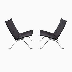 PK 22 Lounge Chairs by Poul Kjærholm for Fritz Hansen, 1990s, Set of 2