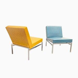Mid-Century Sessel aus Stahlrohr & Kunstleder von Thonet, 1960er, 2er Set