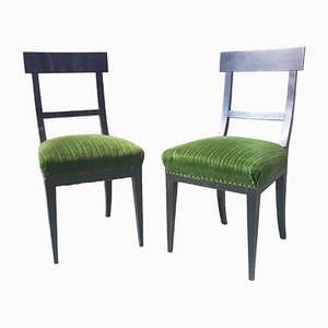 Biedermeier Dining Chairs, Set of 2