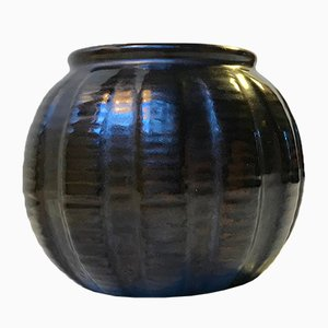 Black Ceramic Vase from Michael Andersen and Son, 1940s