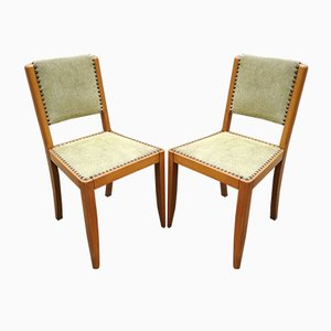 Beech Lounge Chairs, France, 1950s, Set of 2