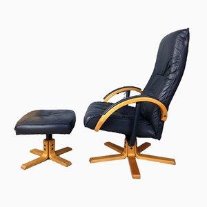 Vintage Danish Adjustable Reclining Swivel Lounge Chair by Jørgen Kastholm for Unico