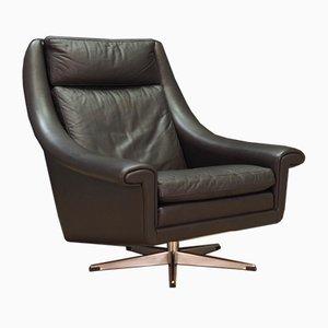 Mid-Century Leather Armchair by Aage Christensen for Erhardsen & Andersen, 1960s