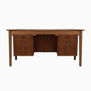 Vintage Danish Oak Desk, 1970s