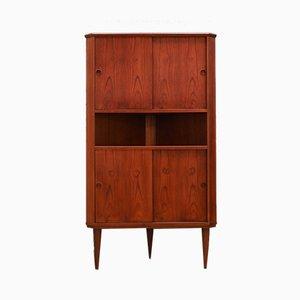 Mid-Century Teak Veneer Corner Cabinet, 1960s