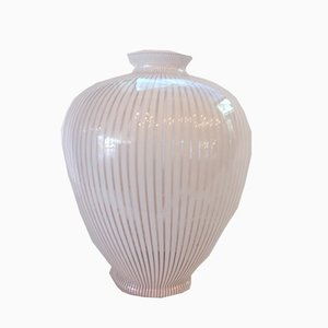 White Watermark Amphora from Franco Valmarana, 1970s