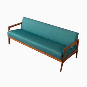 Massives Teak Sofa, 1950er