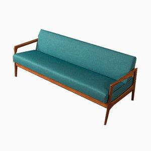 Solid Teak Sofa, 1950s