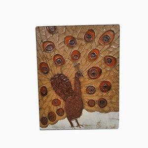 Décoration Murale Peacock Mid-Century en Céramique de W. Schäfer, 1960s