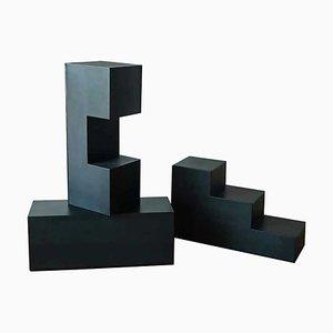 Tables Basses Modèle Gli Scacchi Modulaires par Mario Bellini pour B & B Italia / C & B Italia, 1960s, Set de 3
