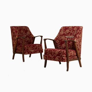 Mid-Century Danish Armchairs, 1940s, Set of 2