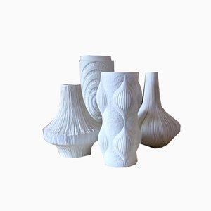 Mid-Century Op Art Vasen von Martin Freyer für Rosenthal, 4er Set