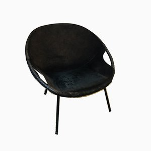 Mid-Century Suede Balloon Chair from Lusch & Co, 1960s