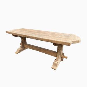 Solid Oak Monastery Table, 1970s