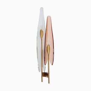 Applique Dalia rosa di Max Ingrand per Fontana Arte, Italia, anni '50