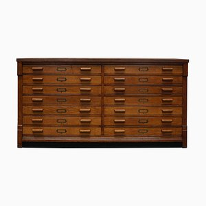 Vintage English Oak Apothecary Cabinet, 1930s