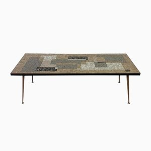 Mid-Century German Mosaic Coffee Table, 1950s