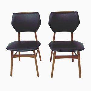 Vintage Skai Esszimmerstühle, 1960er, 2er Set