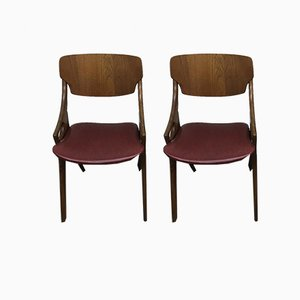 Danish Chairs by Arne Olsen Hovmand for Mogens Kold, 1950s, Set of 2