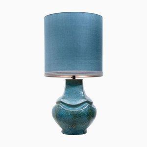Dutz Keramiklampe mit Seidenschirm, 1960er