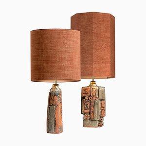 Keramik Tischlampen von Bernard Rooke, 1960er, 2er Set