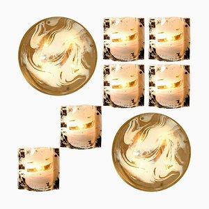 Murano Glass Brass Light Fixtures by J.T. Kalmar, Austria, 1960s, Set of 8