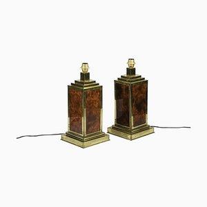 Lampes de Bureau en Bakélite et Laiton Doré, 1970s, Set de 2
