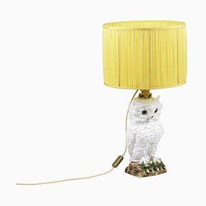 Eulenlampe aus Steingut, 1950er