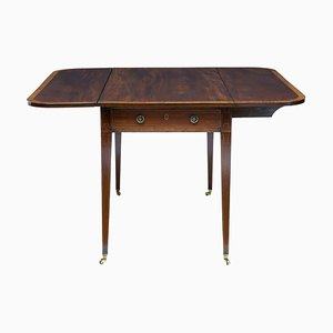 19th Century Mahogany Cross Banded Pembroke Table