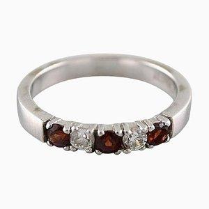 Chanti Alliance Ring aus 8 Karat Gold mit Brillanten verziert