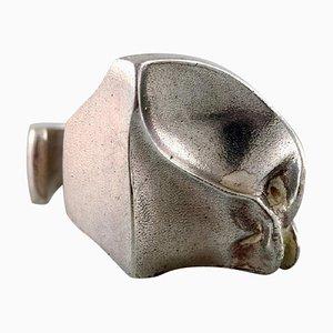 Moderner handgemachter Vintage Ring aus Sterlingsilber von Björn Weckström, 1960er