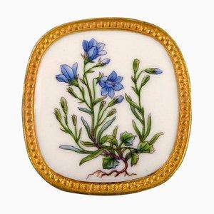 Broche Flora Danica en Porcelaine et Argent Massif par Michelsen pour Royal Copenhagen