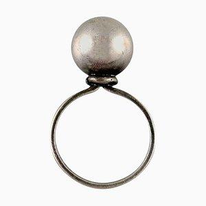Moderner schwedischer Ring aus gestanztem Silber, 1960er
