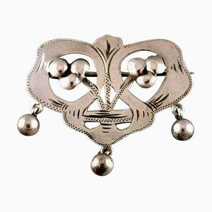 Swedish Art Nouveau Brooch in Silver, 1900s
